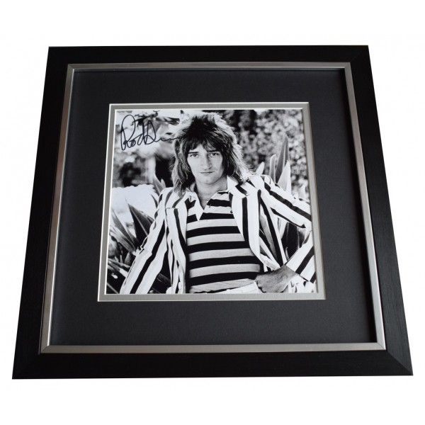 Rod Stewart SIGNED Framed LARGE Square Photo Autograph Music AFTAL  COA Memorabilia PERFECT GIFT