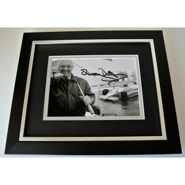 Murray Walker SIGNED 10x8 FRAMED Photo Autograph Display Formula 1 Sport & COA   PERFECT GIFT