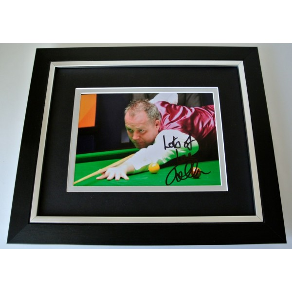 John Higgins SIGNED 10x8 FRAMED Photo Autograph Display Snooker Sport & COA PERFECT GIFT