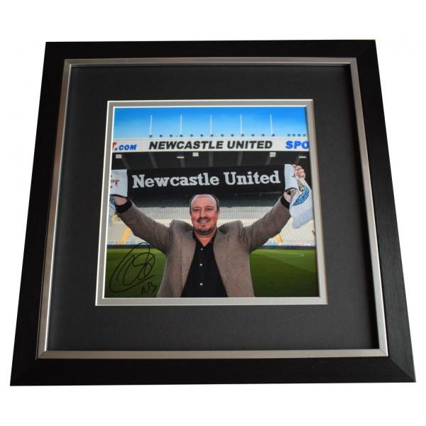 Rafa Benitez SIGNED Framed LARGE Square Photo Autograph Newcastle Football AFTAL  COA Memorabilia PERFECT GIFT