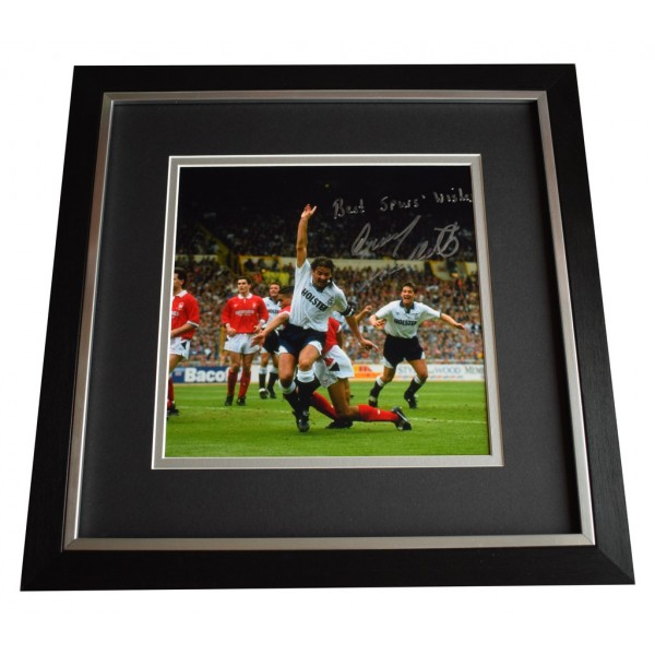 Gary Mabbutt SIGNED Framed LARGE Square Photo Autograph Tottenham Hotspur  AFTAL  COA Memorabilia PERFECT GIFT