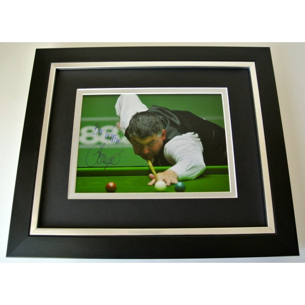 John Parrott SIGNED 10x8 FRAMED Photo Autograph Display Snooker Sport & COA  PERFECT GIFT