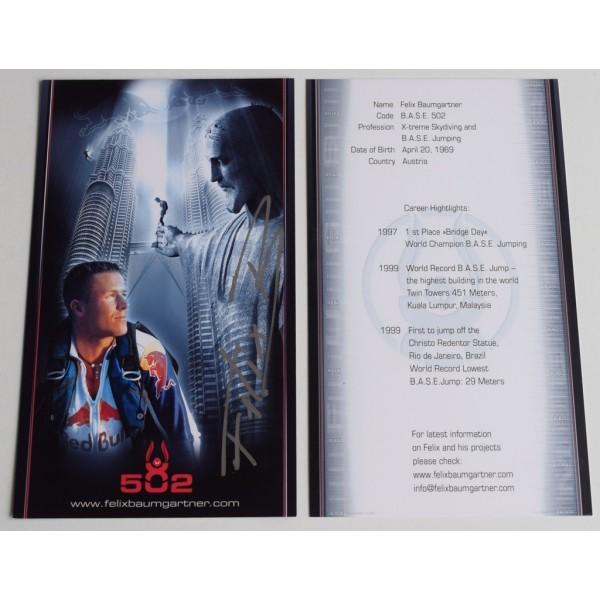Felix Baumgartner Signed Autograph Official 8x4 photo TV Space Jump  AFTAL & COA Memorabilia PERFECT GIFT