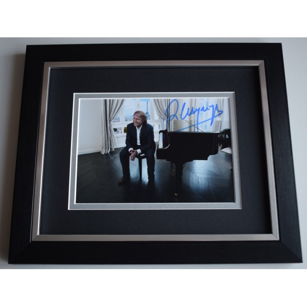 Richard Clayderman SIGNED 10x8 FRAMED Photo Autograph Display Piano MusicAFTAL &  COA Memorabilia PERFECT GIFT