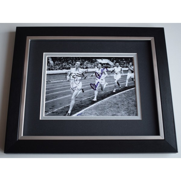 Roger Bannister & Chris Chataway SIGNED 10x8 FRAMED Photo Autograph Display  AFTAL &  COA Memorabilia PERFECT GIFT