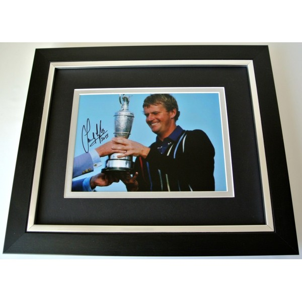 Sandy Lyle SIGNED 10x8 FRAMED Photo Autograph Display Golf Open Sport & COA  PERFECT GIFT