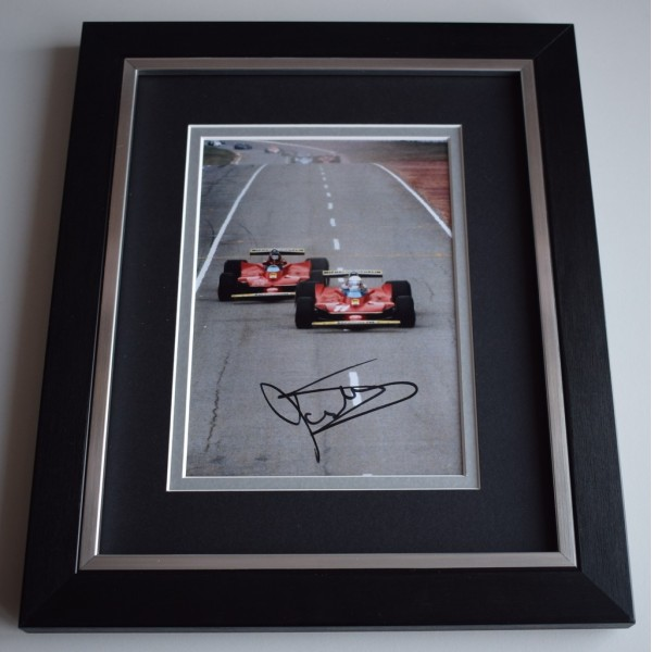 Jody Scheckter SIGNED 10x8 FRAMED Photo Autograph Display Formula 1  AFTAL &  COA Memorabilia PERFECT GIFT