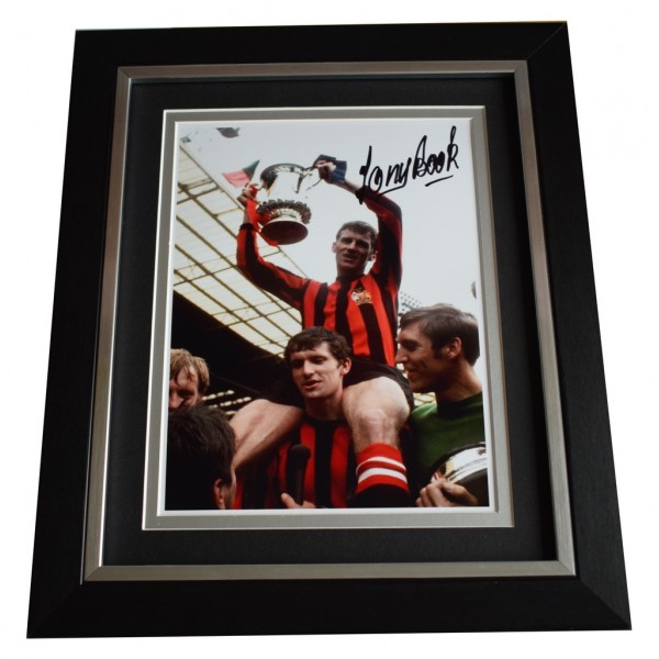 Tony Book SIGNED 10x8 FRAMED Photo Autograph Display Manchester City  AFTAL  COA Memorabilia PERFECT GIFT