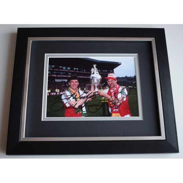 Tony Adams & David O'Leary SIGNED 10x8 FRAMED Photo Autograph Display   AFTAL &  COA Memorabilia PERFECT GIFT