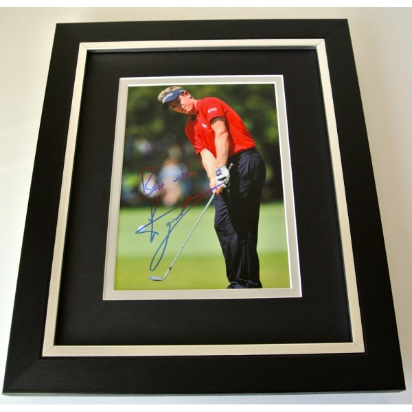 Luke Donald SIGNED 10x8 FRAMED Photo Mount Autograph Display Golf Sport COA  PERFECT GIFT