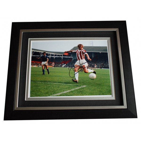 Jimmy Greenhoff SIGNED 10x8 FRAMED Photo Autograph Display Stoke City AFTAL  COA Memorabilia PERFECT GIFT