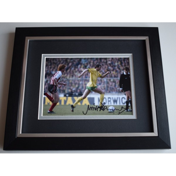 Mick Channon SIGNED 10x8 FRAMED Photo Autograph Display Norwich City AFTAL &  COA Memorabilia PERFECT GIFT