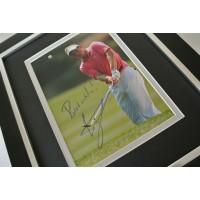Luke Donald SIGNED 10x8 FRAMED Photo Mount Autograph Display Golf Sport COA   PERFECT GIFT