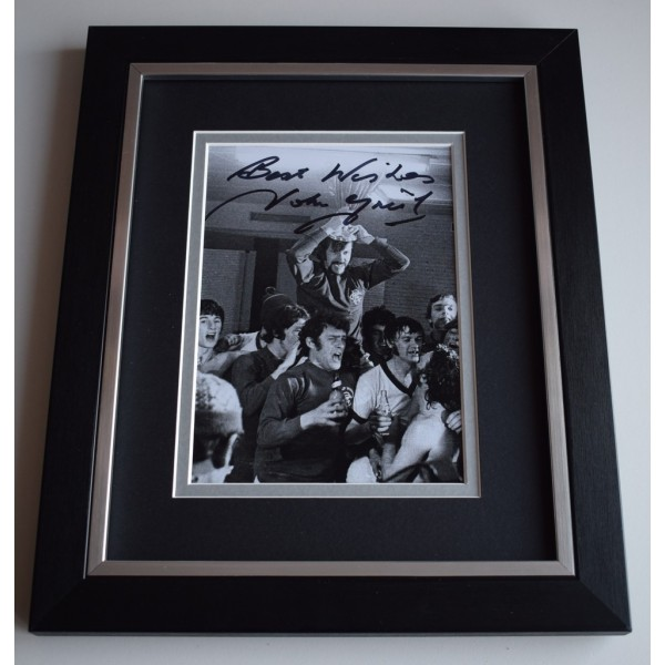 John Greig SIGNED 10x8 FRAMED Photo Autograph Display Rangers Football  AFTAL &  COA Memorabilia PERFECT GIFT