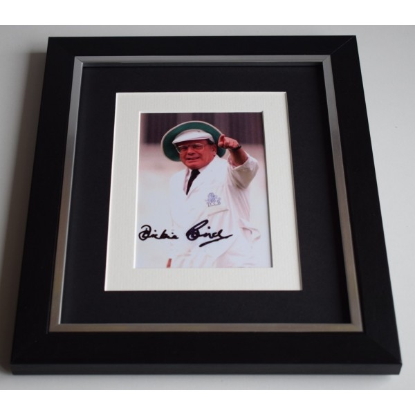 Harold Dickie Bird SIGNED 10x8 FRAMED Photo Autograph Display Cricket  AFTAL & COA Memorabilia PERFECT GIFT