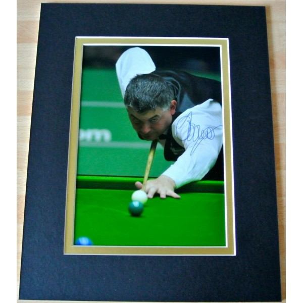 JOHN PARROTT HAND SIGNED AUTOGRAPH 10X8 PHOTO MOUNT DISPLAY SNOOKER & COA      PERFECT GIFT