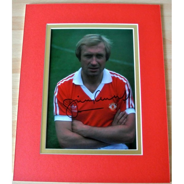 JIMMY GREENHOFF HAND SIGNED AUTOGRAPH 10X8 PHOTO MOUNT DISPLAY MAN UNITED & COA        PERFECT GIFT