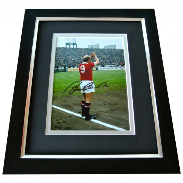 Bobby Charlton Signed 10x8 FRAMED Photo Autograph Display Manchester Utd COA PERFECT GIFT