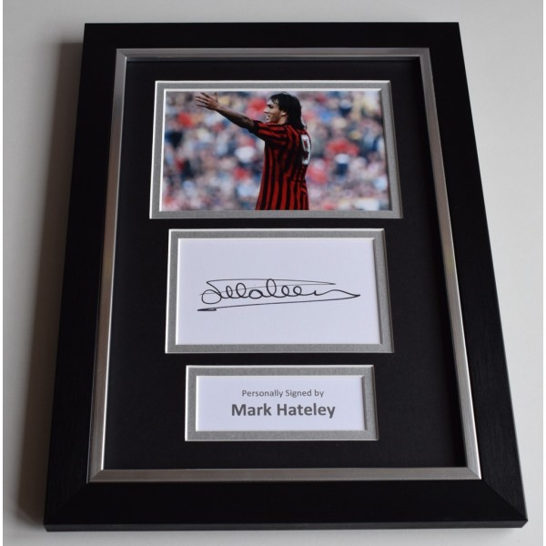 Mark Hateley Signed A4 FRAMED photo Autograph display AC Milan Football AFTAL & COA Memorabilia PERFECT GIFT