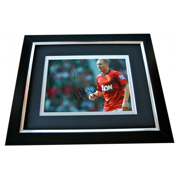 Paul Scholes Signed 10x8 FRAMED Photo Autograph Display Manchester United & COA   PERFECT GIFT