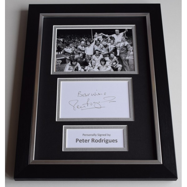 Peter Rodrigues Signed A4 FRAMED photo Autograph display Southampton Football  AFTAL & COA Memorabilia PERFECT GIFT
