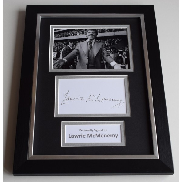 Lawrie McMenemy Signed A4 FRAMED photo Autograph display Southampton Football AFTAL & COA Memorabilia PERFECT GIFT