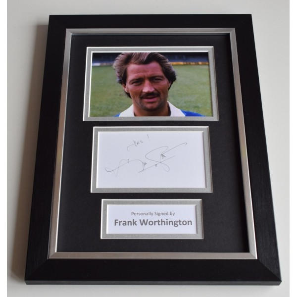 Frank Worthington Signed A4 FRAMED photo Autograph display Leicester City PROOF  AFTAL & COA Memorabilia PERFECT GIFT