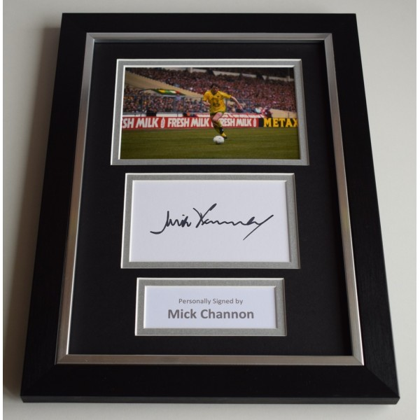 Mick Channon Signed A4 FRAMED photo Autograph display Norwich City Football  AFTAL & COA Memorabilia PERFECT GIFT