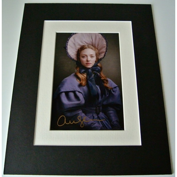 Amanda Seyfried Signed Autograph 10x8 photo display Les Miserables Film & COA  PERFECT GIFT CLEARANCE