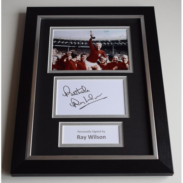 Ray Wilson Signed A4 FRAMED photo Autograph display England World Cup 1966 AFTAL & COA Memorabilia PERFECT GIFT