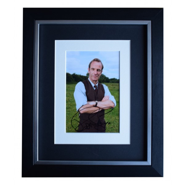 Robson Green SIGNED 10x8 FRAMED Photo Autograph Display Grantchester   AFTAL  COA Memorabilia PERFECT GIFT