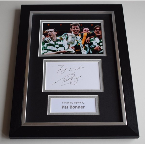 Patrick Bonner Signed A4 FRAMED photo Autograph display Celtic Football  AFTAL & COA Memorabilia PERFECT GIFT
