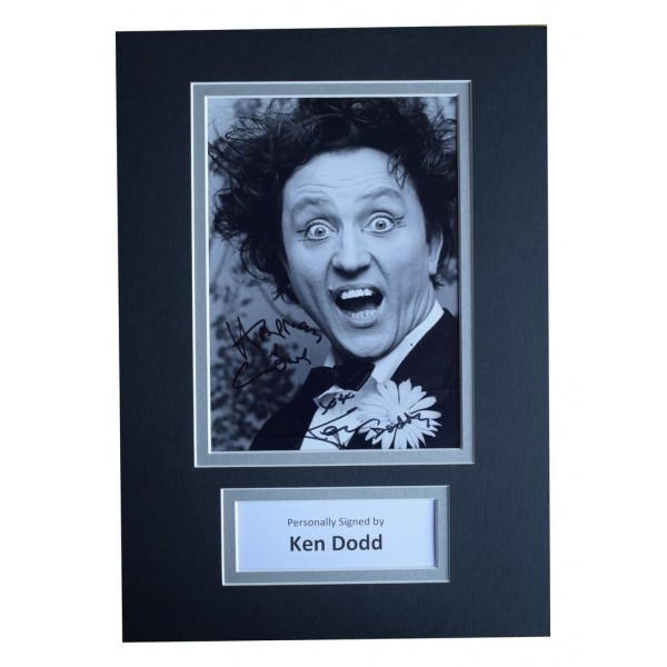 Ken Dodd Signed Autograph A4 photo display Comedy  AFTAL  COA Memorabilia PERFECT GIFT