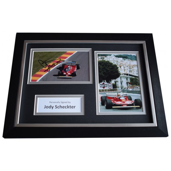 Jody Scheckter Signed A4 FRAMED photo Autograph display Formula 1   AFTAL &  COA Memorabilia PERFECT GIFT