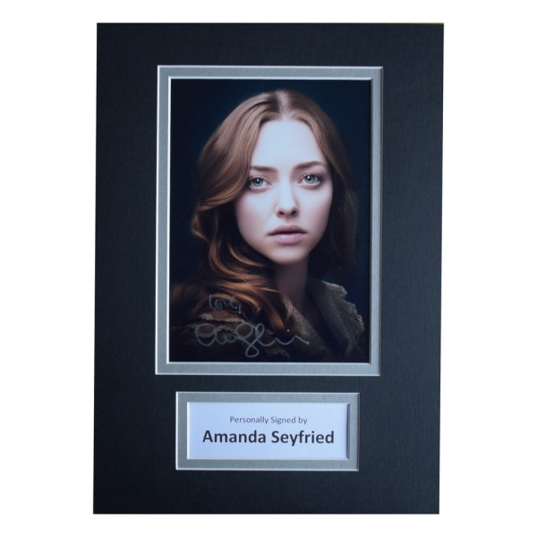 Amanda Seyfried Signed Autograph A4 photo display Les Miserables AFTAL  COA Memorabilia PERFECT GIFT