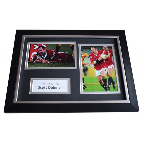 Scott Quinnell Signed A4 FRAMED photo Autograph display Wales Rugby    AFTAL &  COA Memorabilia PERFECT GIFT