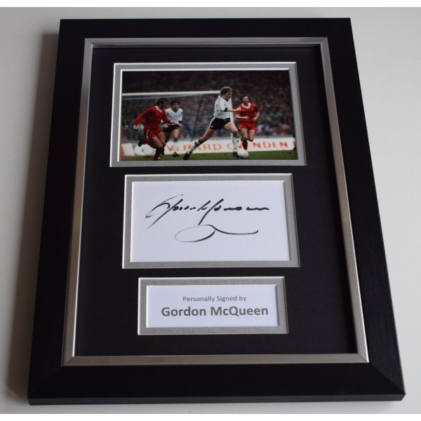 Gordon McQueen Signed A4 FRAMED photo Autograph display Manchester United   AFTAL & COA Memorabilia PERFECT GIFT