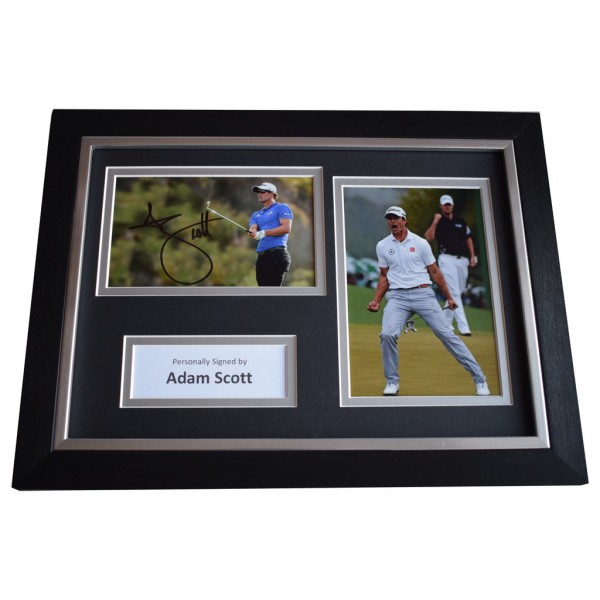 Adam Scott Signed A4 FRAMED photo Autograph display Golf Sport    AFTAL &  COA Memorabilia PERFECT GIFT