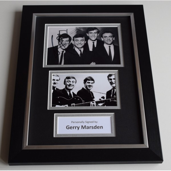 Gerry Marsden Signed A4 FRAMED photo Autograph display Pacemakers Music    AFTAL & COA Memorabilia PERFECT GIFT