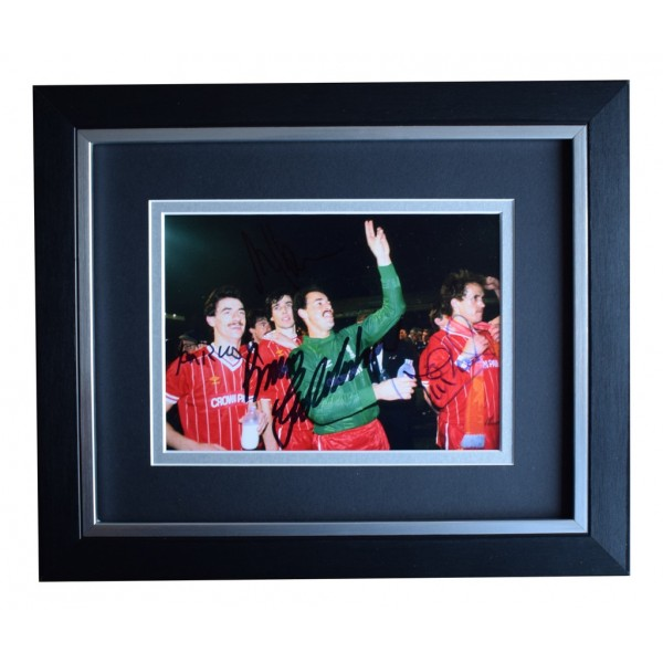 Grobbelaar Hansen Neal Rush x4 Autograph SIGNED 10x8 FRAMED Photo Display AFTAL  COA Memorabilia PERFECT GIFT