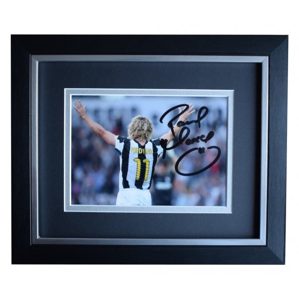Pavel Nedved SIGNED 10x8 FRAMED Photo Autograph Display Juventus AFTAL  COA Memorabilia PERFECT GIFT
