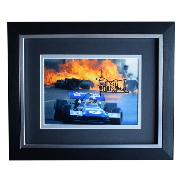 Jackie Stewart SIGNED 10x8 FRAMED Photo Autograph Display Formula 1 racing AFTAL  COA Memorabilia PERFECT GIFT