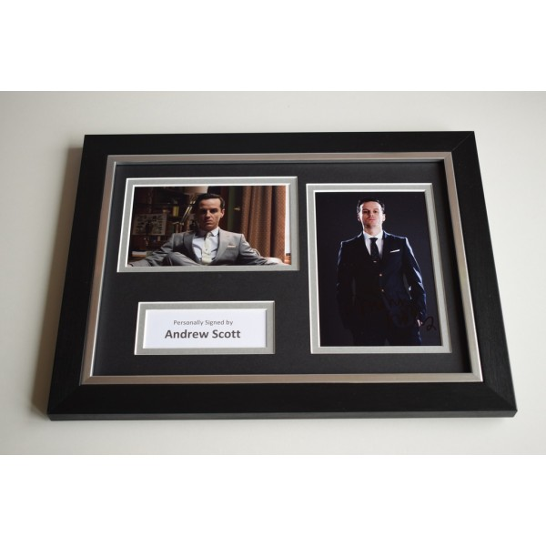 Andrew Scott Signed A4 FRAMED photo Autograph display Sherlock TV Moriarty AFTAL & COA Memorabilia PERFECT GIFT