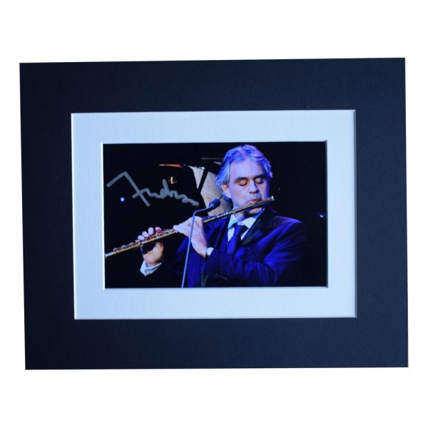 Andrea Bocelli Signed Autograph 10x8 photo display Opera Music AFTAL  COA Memorabilia PERFECT GIFT