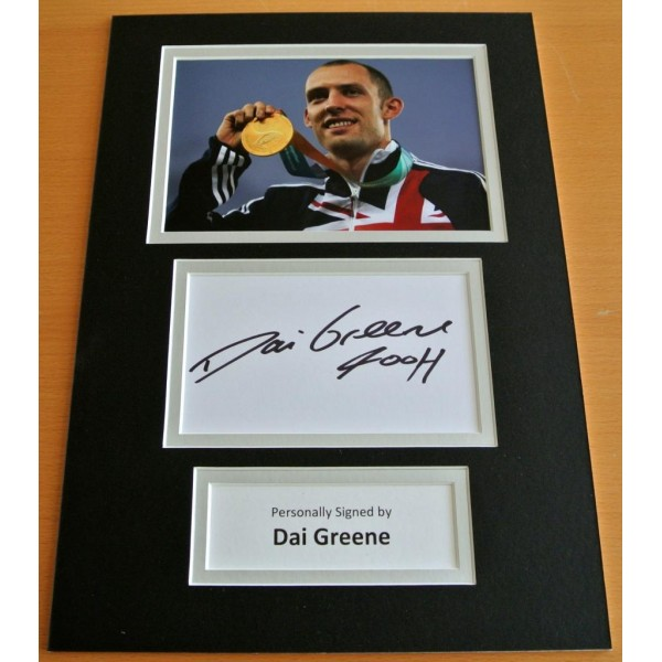 Collectables Coa Autographs Dai Greene Signed 16x12 Photo Autograph Display Olympics Memorabilia