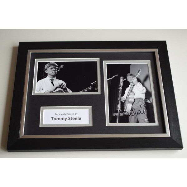 Tommy Steele Signed A4 FRAMED photo Autograph display Film Music    AFTAL & COA Memorabilia PERFECT GIFT