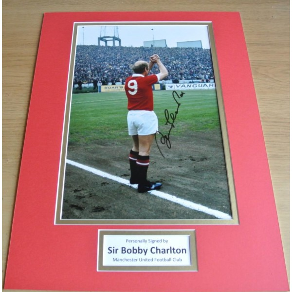 Bobby Charlton SIGNED autograph 16x12 photo display Manchester United & COA PERFECT GIFT