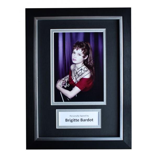 Brigitte Bardot Signed A4 FRAMED Autograph Photo Display Hollywood FilmAFTAL  COA Memorabilia PERFECT GIFT