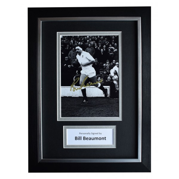 Bill Beaumont Signed A4 FRAMED Autograph Photo Display England Rugby Union  AFTAL  COA Memorabilia PERFECT GIFT