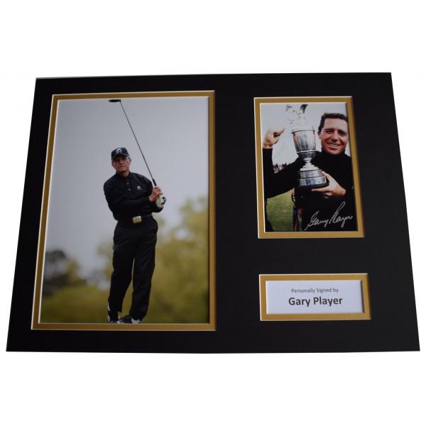 Gary Player SIGNED autograph 16x12 photo mount display Golf Sport  AFTAL &  COA Memorabilia PERFECT GIFT